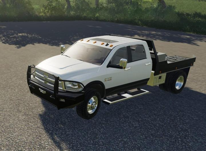 FS19 - Dodge Ram 3500 Flatbed V1 | Simulator Games Mods Download