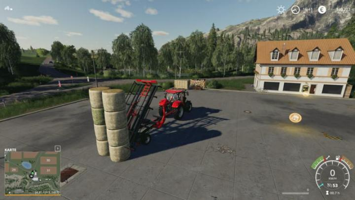 FS19 - Ursus T127 Round Bales V1 | Simulator Games Mods Download