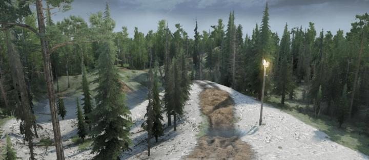 SpinTires Mudrunner - The Pass Map v01/15/19 | Simulator Games Mods