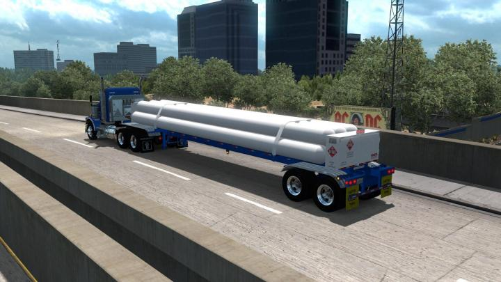 ATS - Cmw Tube Trailer Ownable V2 (1 34 x) | Simulator Games Mods