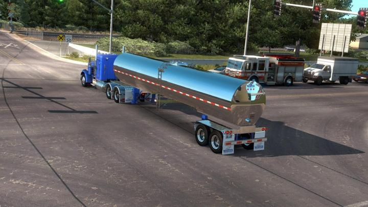 ATS - Tremcar Milk Tanker Ownable (1 34 x) | Simulator Games Mods