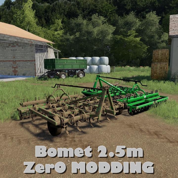 FS19 - Bomet 2 5M Cultivator V1 | Simulator Games Mods Download