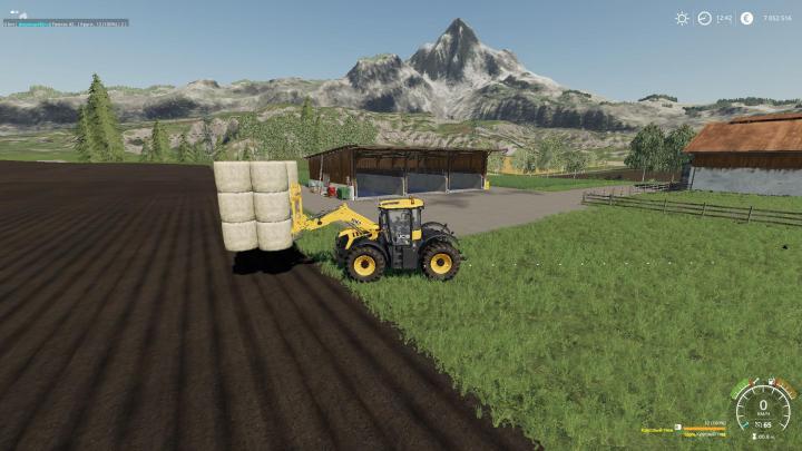 FS19 - Forks With Bale Loading V1 | Simulator Games Mods Download