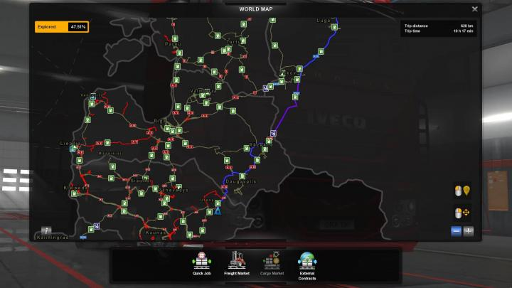 ETS2 - Transparent Gps Line V1 (1 34 x) | Simulator Games