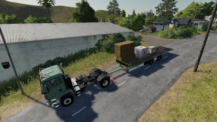 FS19 - Fliegl Tps 180 Low Deck V1 | Simulator Games Mods Download
