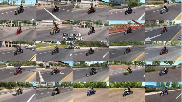 ATS - Motorcycle Traffic Pack V3 (1.35.x) - Simulator