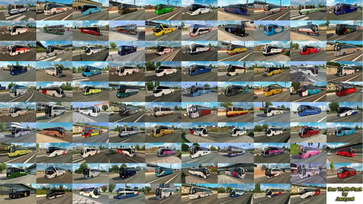 ETS2 - Bus Traffic Pack By Jazzycat V7 (1 34 x) | Simulator