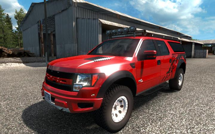 ETS2 - Ford F-150 Svt Raptor + Mini Trailer (1 34 x