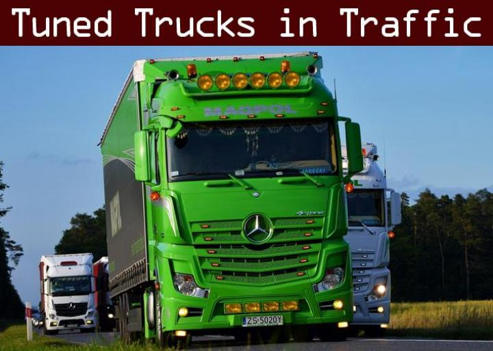 ETS2 - Tuned Truck Traffic Pack V1 (1 34 x) | Simulator