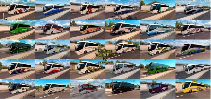 ATS - Mexican Traffic Pack By Jazzycat V1 9 1 (1 35 x