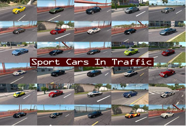 ATS - Sport Cars Traffic Pack V3.8.1 (1.35.x) - Simulator