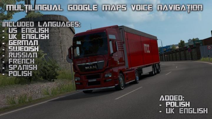 ETS2 - Multilingual Google Maps Voice Navigation (1 35 x