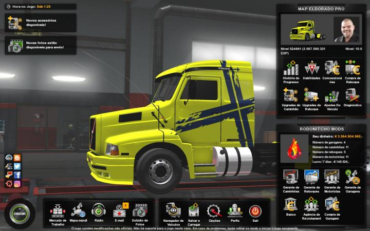 ETS2 - Profile Map Eldorado Pro 1 7 3 (1 35 x) | Simulator