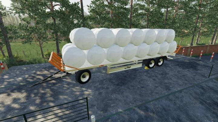 FS19 - Fliegl Dpw 180/210 Bales-Autoload V1 1 | Simulator Games Mods
