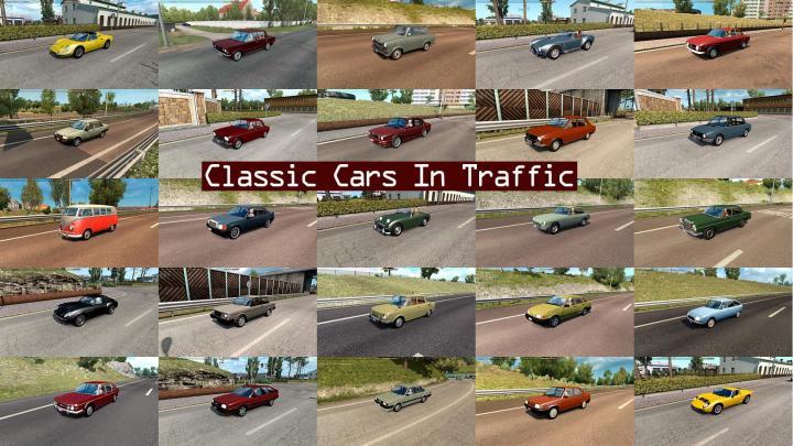 ETS2 - Classic Cars Traffic Pack V3 2 (1 35 x) | Simulator