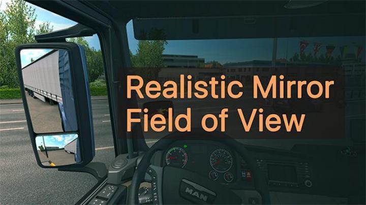 ETS2 - Realistic Mirror Fov V1 (1 35 x)   Simulator Games
