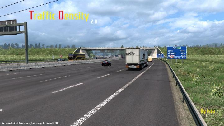 ETS2 - Traffic Density V2 (1 35 x) | Simulator Games Mods