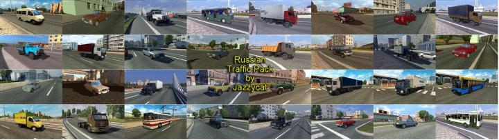 ETS2 - Russian Traffic Package V2 6 (1 35 x) | Simulator
