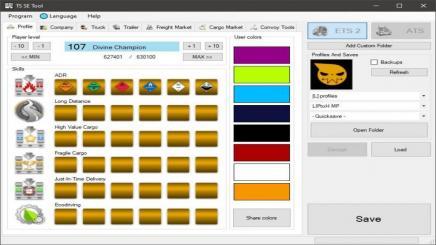 ETS2 - Ts Saveeditor Tool V0 2 1 (1 35 x) | Simulator Games