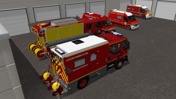 FS17 - Pack Sapeurs Pompiers V1 | Simulator Games Mods Download