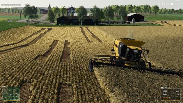 FS19 - Claas Lexion Harvester V1   Simulator Games Mods Download