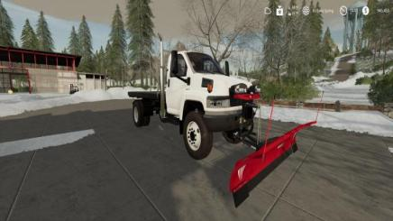 FS19 - Gmc Topkick Flatbed Plow Truck V2   Simulator Games ...