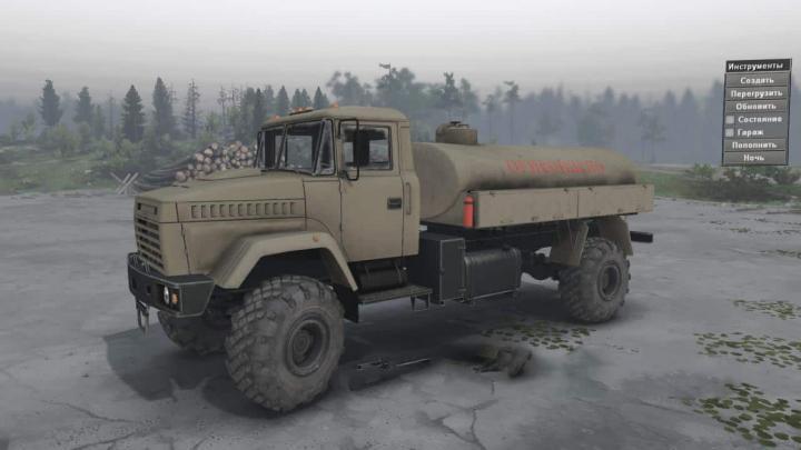 SpinTires - Kraz 5131 Truck v1 | Simulator Games Mods Download