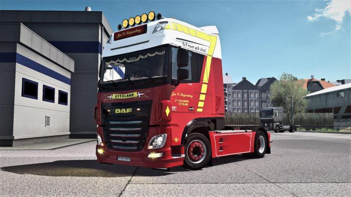 ETS2 - Jan C  Swijnenburg Skin For Daf Xf Euro6 V1 (1 35 x