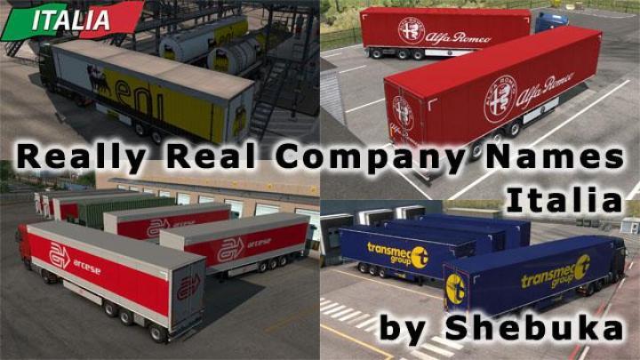 ETS2 - Real Company Names - Italia V1 (1 35 x) | Simulator