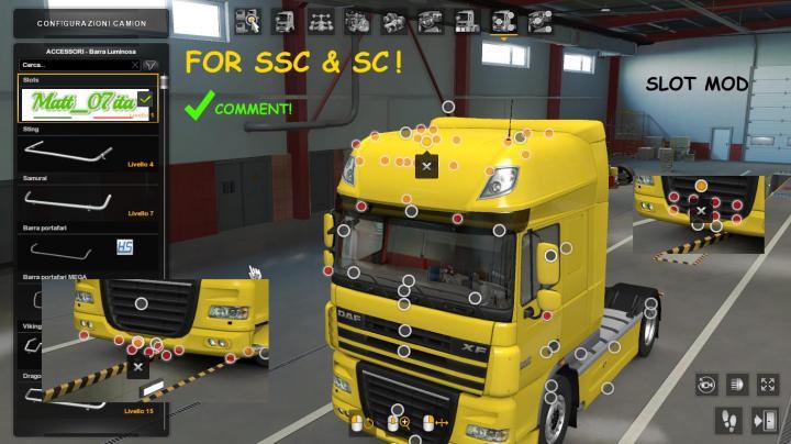 ETS2 - Big Slot Pack For Daf Xf 105 (1.39.x) - Simulator